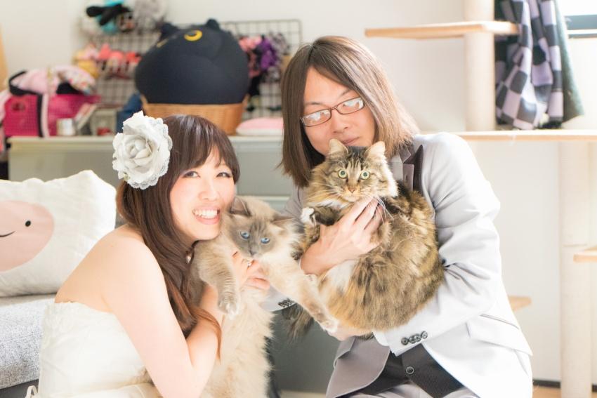 猫と一緒に記念写真を撮影できる出張タイプの写真スタジオ【ペットショット】cat-photo003