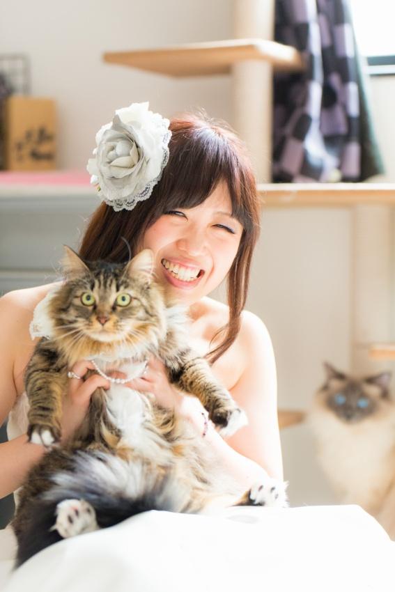 猫と一緒に記念写真を撮影できる出張タイプの写真スタジオ【ペットショット】cat-photo006